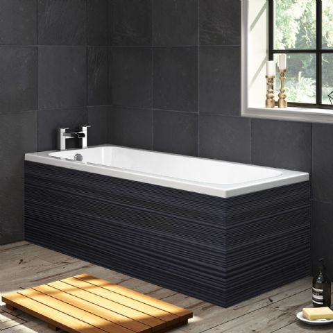 Black Finnish Pine 1 Piece Bath Panels